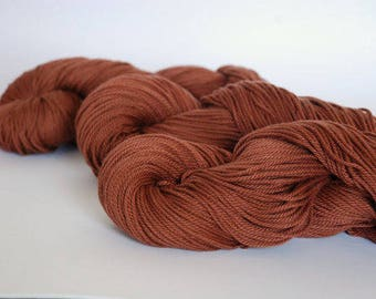 CHOCOLATE BROWN ~ ARAN Pure natural Cotton yarn ~ co.no 6