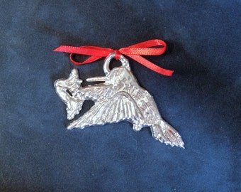 Pewter Hummingbird Ornament