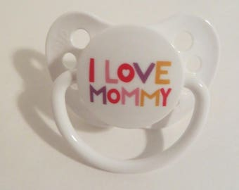 Baby Alive MAGNETIC Pacifier Customized for MY Baby Alive 2010 Interactive Doll - I Love Mommy - Please read description