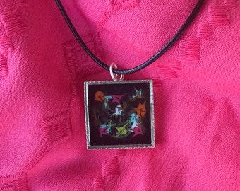 Rainbow Square Necklace