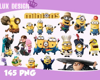 145 Minions ClipArt- PNG Images 300dpi Digital, Clip Art, Instant Download, Graphics transparent background Scrapbook