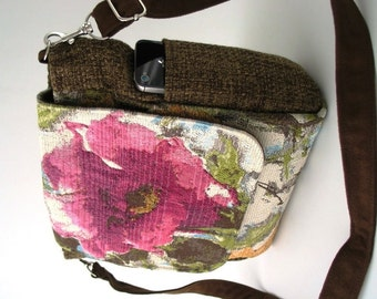 backpack purse converts to crossbody bag, messenger bag, backpack handbag ,floral purse, womens handbag, shoulder bag, zipper bag, fit Ipad