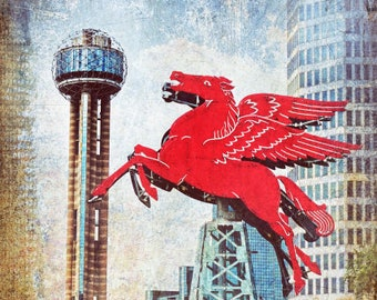 """Dallas, Texas - """"Downtown Dallas Omni Hotel Pegasus"""""""