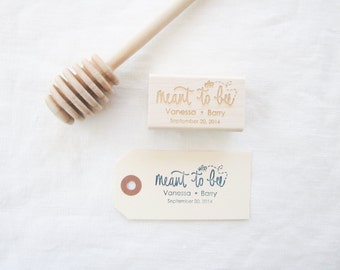 Personalized Wedding Favor Stamp - Hand Lettered Meant to Bee Stamp - honey favor stamp - wedding favor stamp