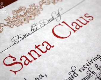 Santa letterhead etsy local pickup handwritten and completely customized letter from santa letter from spiritdancerdesigns Choice Image