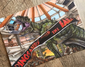 """Jurassic Park """"When Dinosaurs Ruled the Earth"""" Print"""