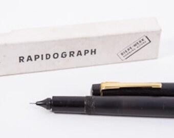 Boxed Rapidograph pen Hamburg Germany 1960s