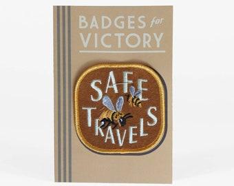 Safe Travels embroidered badge