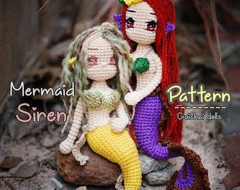 Free Crochet Amigurumi Mermaid Pattern : Amigurumi mermaid etsy