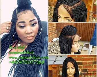 Braided Wig unit. Cornrow Braidwig, Braidswig(or choose colour  and lenght) 26inches. Full lace wig