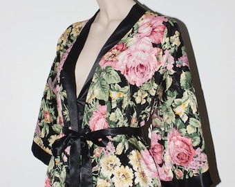 1980s Floral Robe - USA Made