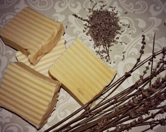 Carrot and lavender baby soap