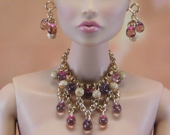 Doll jewelry set for Fashion Royalty, Barbie and other 1/6 fashion dolls