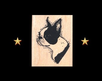 BOSTON TERRIER Rubber Stamp – Dog Rubber Stamp, Boston Terrier Stamp, Terrier Stamp, Boston Terrier Gifts, Terrier Stamp, Boston Terrier Mom