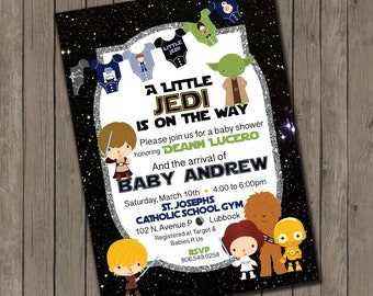 Star Wars inspired Baby Shower Invitations- 25 printed