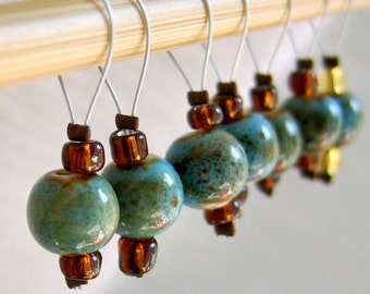 Oxygen and Hydrogen - Six Snag Free Stitch Markers - Fits Up To 5.5 mm (9 US) - Limited Edition