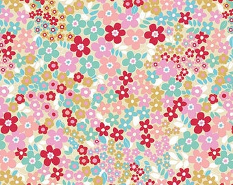 Red Field Floral from Riley Blake's Forget Me Not Collection