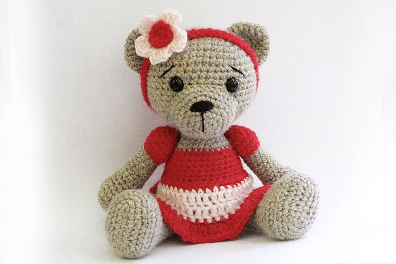 Easy Amigurumi Bear Pattern : Pattern : bear teddy bear girl amigurumi bear pattern bear skirt