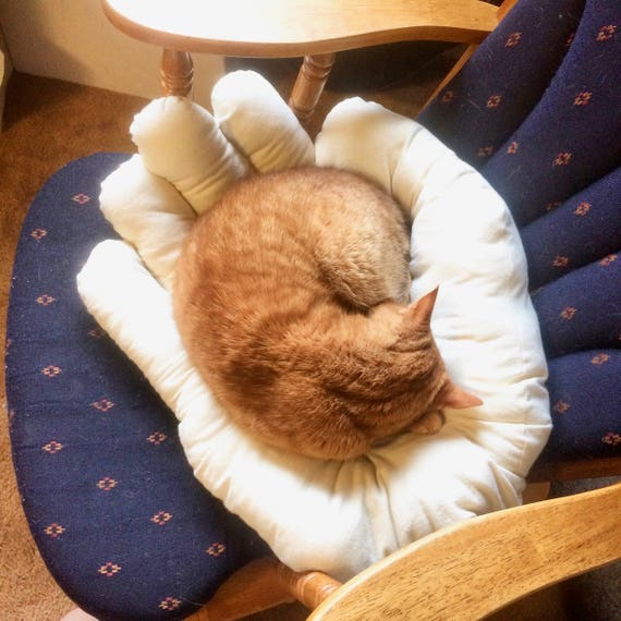 Hand-shaped cat bed