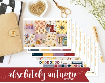 Autumn Sticker Kit, Fall Planner Kit, Pumpkin Planner Sticker Kits, Pumpkin Stickers, Autumn Planner Stickers, Fall Planner Sticker Kita