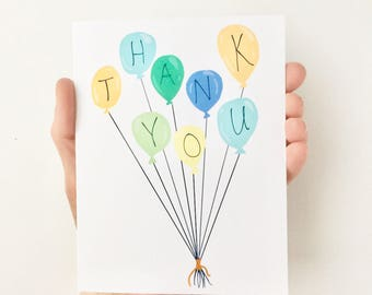 Thank You Card, Thank You Card Birthday, Thank You Card for Baby Shower, Kids Stationery, Thank You Card Birthday Party, Kids Thank You Card