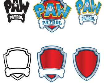 Paw patrol svg, Paw patrol Clipart, cartoon svg, paw patrol logo svg, eps, png, dxf, cricut, silhouette cutting file, Instant download