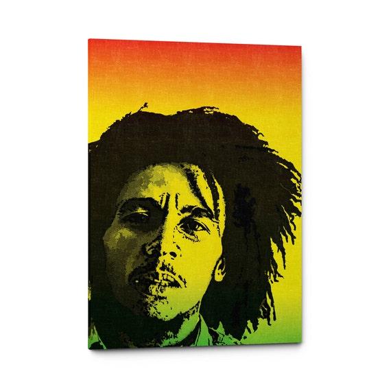 Bob Marley Canvas Art Bob Marley Poster Print Reggae Wall