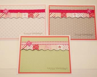 Birthday Card, Homemade Birthday Card, Female Birthday, Girl Birthday Card, Greeting cards, Birthday Girl, Birthday Lady