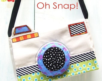 PDF Camera Purse Sewing Pattern - Oh Snap