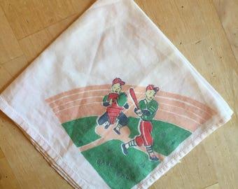 Handkerchief Baseball themed