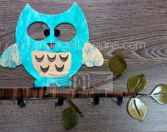 Metal Owl Hooks - Hanger Decor