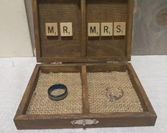 Scrabble Themed Ring Box