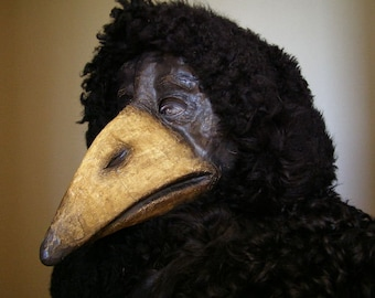 Masquerade mask, Plague Doctor Mask, Paper mache mask, Halloween mask, Mardi Gras Mask, Scary mask, Theatre Mask, Face Mask, Animal Mask