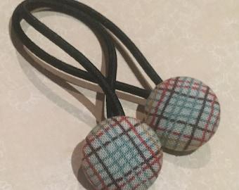 Hair bands/ties - Stripes Teal