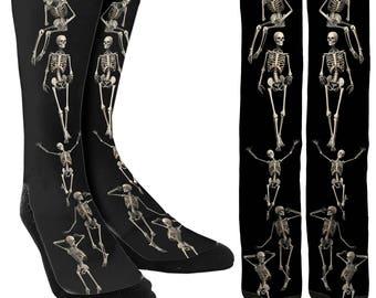 Skeleton Socks -Halloween Socks -Socks for Halloween -Crazy Socks -Womens Novelty Socks -Mens Novelty Socks -Unique Socks- FREE Shipping C89