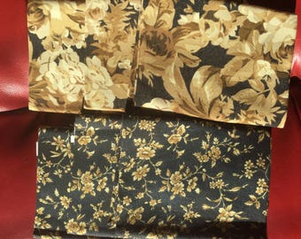 6 Novelty Print Fabric Fat Quarter 18 x 22 Inches