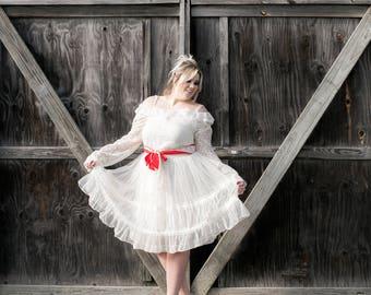 XL RUFFLE BALLET Slip Skirt. Cupcake Circle Hoop tulle Vintage White Wedding Crinoline Petticoat. Lace Undergarment Slip Bridal Lingerie
