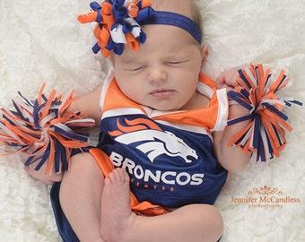 Denver Broncos, Auburn Tigers, Syracuse Inspired Baby Headband, Baby Headband, Newborn Headband, Photo Prop