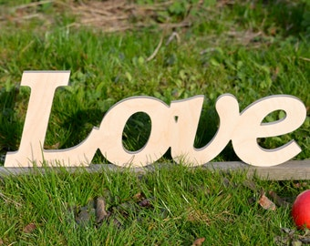 Wooden words, wooden sign, Love, wooden letters, wooden signs for home, Wooden word, Wood sign wall hanging,