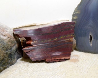 Slab Cab Lapidary Slabs Tiger Iron  #03