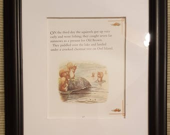 The Squirrels Go Fishing - The Tale of Squirrel Nutkin by Beatrix Potter - Aproximaitely 5 1/2 x 7 1/2 inches