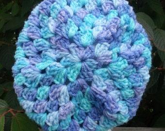 handmade crochet granny square hat, crochet hat, handmade crochet, granny square, handmade hat, slouch hat, slouch beanie