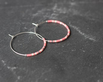 """Carpe Diem"" hoop earrings"