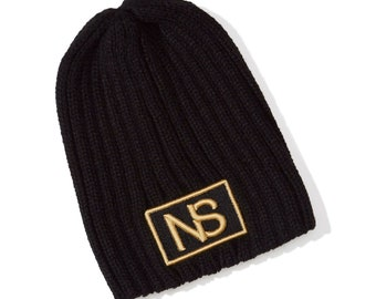 Neatscene Black Ribbed Beanie