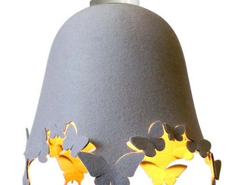 DELIGHT LACIE Wool Felt Butterfly - LAMPSHADE - cream, grey or other colours
