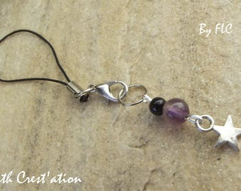 Wearable jewelry - stone and Silver Star (190116-A)