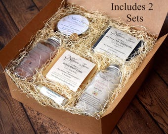 Gift for Women - 2 Personalized Gift Sets for Women - Gift for Her - Natural Bath Gift Set - Gift for Mom - Bridesmaid Gift Set - Bath Set