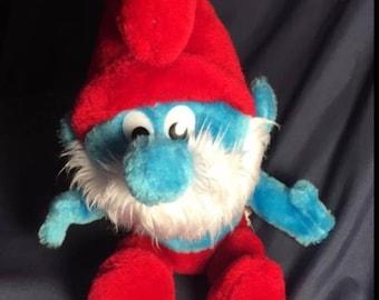 Papa Smurf Plushie from 1979 The Smurfs