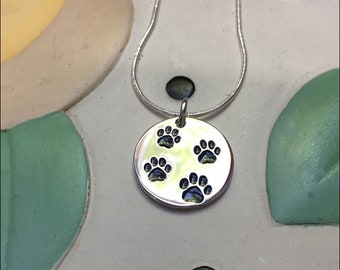 4 Paws Sterling Silver Charm Necklace
