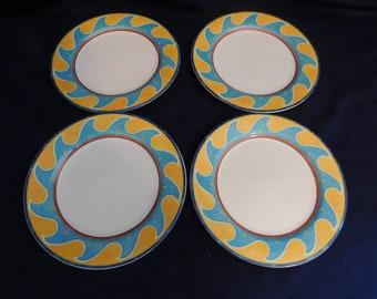 Mikasa Christopher Stuart Optima Barbados Salad Plates - 4 circa 1995 & Vintage Christopher Stuart Salad Plates Somerset Pattern